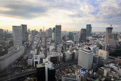 Una vista general de la línea del horizonte de Tokio el 29 de octubre de 2008 en Tokio, Japón