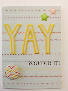Items similar to Congratulations Card - Handmade Card - Graduation Card - Achievement Card - Promotion Card - Accomplishment Card on Etsy Congratulations Promotion, Congratulations Card, Diy Craft Projects, Projects To Try, Diy Crafts, Craft Ideas, New Job Card, Valentine Greeting Cards, Homemade Cards