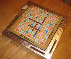 3D Scrabble Board Game Cake 1