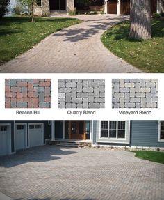 Aqua-Bric Pavers Retaining Wall Pavers, Manufactured Stone, New England Style, Beacon Hill, Nantucket, Patio Ideas, Cape Cod, Vineyard, Aqua