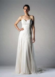 Elsie by Augusta Jones. A lovely sweetheart neckline strapless lace and chiffon…