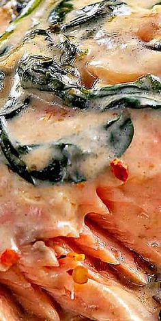 Salmon Florentine Best Seafood Recipes, Fried Fish Recipes, Lobster Recipes, Healthy Recipes, Delicious Recipes, Most Popular Recipes, Popular Food, Favorite Recipes, Dinner Recipes