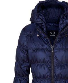 Damen  Daunenjacke Jacke mit Kapuze blau  Gr.42