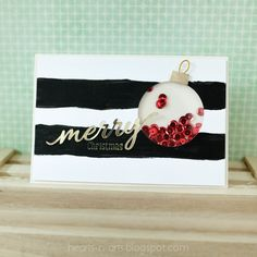 Merry Christmas - Shaker Card by josieteh at @studio_calico