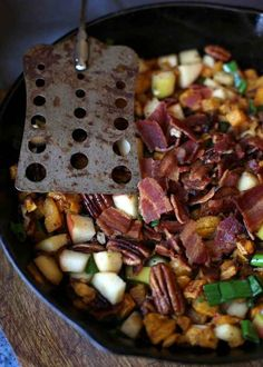 Apple, Pecan & Bacon Butternut Squash Hash