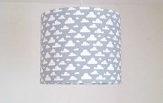 Grey cloud lamp shade gender neutral nursery by mobilampshades