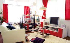 赤×白のスタイリッシュモダン