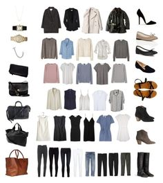 """50 Item Capsule Wardrobe"" by stractstyle ❤ liked on Polyvore featuring Étoile Isabel Marant, Equipment, Chloé, See by Chloé, Barbour, Seneca Rising, Ian R.N., A.P.C., Les Prairies de Paris and Madewell"