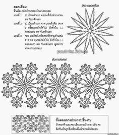 Capa corta al crochet con motivo floral - con diagramas y patrones