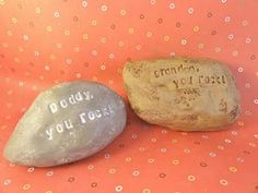 Cover a real rock with Sculpey clay so you can stamp in it