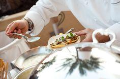 Rising Star Host Chef Maurizio Ferrarese of Quattro at Four Seasons Hotel Houston plates Australian Lamb Ravioli with Lentil Ragout and Parmesan Fondue