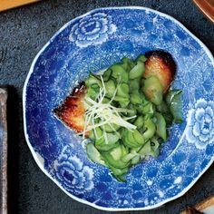 Miso-Cured Black Cod with Chilled Cucumbers Recipe