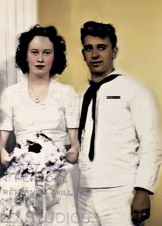 Ed and Lorraine Warren's wedding picture.