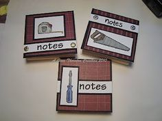 Gina's Stamping Creations: Craft Fair - Masculine Post It Note Holders