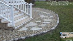 stepping stone front walkway - Google Search