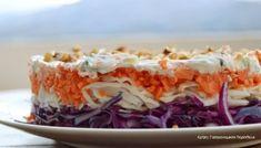Απλή λαχανοσαλάτα σκέτη ή με σάλτσα γιαουρτιού - cretangastronomy.gr Dips, Best Dishes, Greek Recipes, Salad Recipes, Healthy Snacks, Cabbage, Recipies, Food And Drink, Sweets