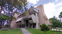 Robert Hutchings Goddard Library - Clark University - 1969 by John MacLane Johansen - #googlestreetview #googlemaps #googlestreet #architecture #usa #worcester #brutalism #modernism