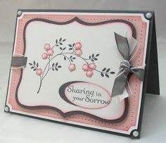 ~*Sorrowful Beauty*~ by LaurieF - Cards and Paper Crafts at Splitcoaststampers Making Greeting Cards, Greeting Cards Handmade, Envelopes, Prayer Cards, Stamping Up Cards, Get Well Cards, Sympathy Cards, Copics, Flower Cards