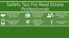 Safety tips for #Realtors..