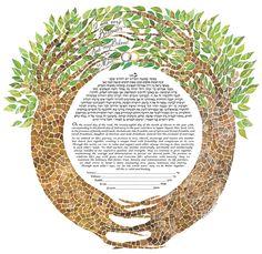 Circular Trees Ketubah by Diane Sidenberg