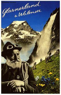 Glarnerland und Walensee 1936 poster by Herbert Matter. 1936 and yet so modern!