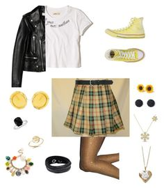 """#27"" by rubyx-cube ❤ liked on Polyvore featuring M&Co, Hollister Co., Yves Saint Laurent, Converse, Bing Bang, Anton Heunis, Swarovski, Dolce&Gabbana, Poporcelain and Blue Nile"