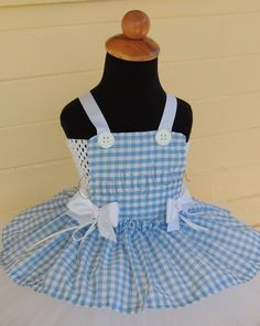 Dorothy Tutu Costume...now i just have to figure out how to make this myself and Nasaria's got a halloween costume!