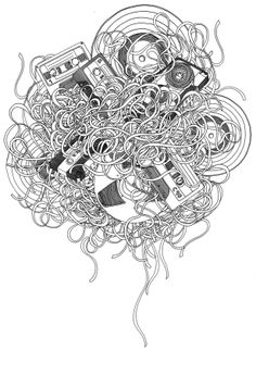 music tangled...drawing idea/ inspiration for students favorite activities