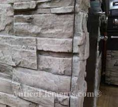 Why use real stone? Antico Elements' incredibly realistic stone veneer panels, faux stone panels for fireplace design. Stone Veneer Panels, Faux Stone Panels, Stone Fireplace Designs, Outdoor Stone, Western Decor, Garage Ideas, Construction, Projects, Blog