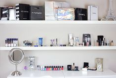 http://www.orglamix.com  Make Up Organization -Malm Vanity  #makeup #organization #beauty #vanity