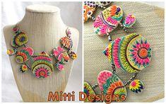 Clay Embroidary - Customized necklace | Rachana Saurabh | Flickr