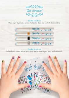 This winter Be creative With Snails Pens and Sticker Nails