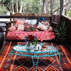 The Best Top 10 Wonderful Bohemian Front Porch Decoration Ideas Bohemian Front Porch Decorating Ideas Is a semi-outdoor indoor terrace which can be a resting place, relax, and welcome guests but with a Bohemian Sty. Bohemian Porch, Boho Home, Bohemian Decor, Boho Chic, Outdoor Rooms, Outdoor Living, Outdoor Decor, Interior Exterior, Porch Decorating
