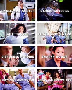 Grey's Anatomy Character Shades: Dr. Cristina Yang