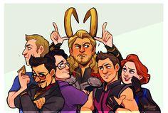 """miss-azura: """"Happy Anniversary, Avengers. """""""