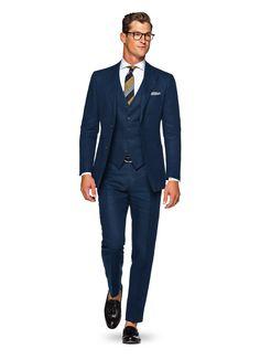 Anzug Blau Uni Hudson P4814 | Suitsupply Online Store