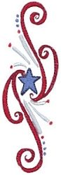 Patriotic Swirls 14 - 4 Sizes! | What's New | Machine Embroidery Designs | SWAKembroidery.com Bunnycup Embroidery