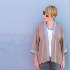 Make a kimono jacket from men's shirts in this step by step tutorial.