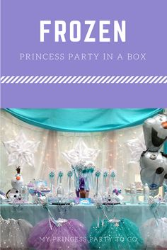 Beautiful Frozen birthday party package shipped right to your door. Sparkling tutus, jumbo snowflake wands, tiaras, snowflake crafts, jewelry, games and party how to guide. Affordable and stress free party planning. See our Monthly Specials going on now.  #frozenbirthdaypartyideas http://www.myprincesspartytogo.com