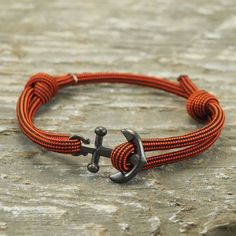 Nautical Bracelet Paracord Bracelet Anchor by DesignedTurning