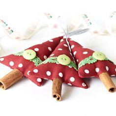 Handmade Christmas Decorations Set of 3