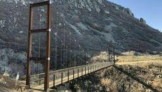 The Bridge Hike In Utah That Will Make Your Stomach Drop Utah Vacation, Across The Bridge, Utah Hikes, Construction Process, Suspension Bridge, In 2015, Great View, Trail, Hiking