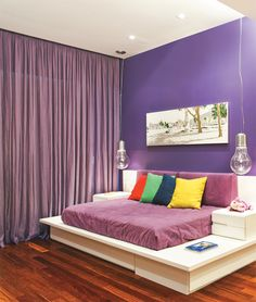 quarto colorido...
