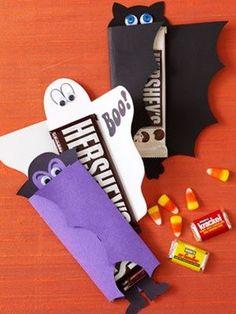 Halloween Themed Chocolate Bars Dracula bat ghost kids craft pyssel spöke fladdermus barn chokladförpackning gift gåva