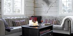 Fin fargekombinasjon! laftet grå stue - Google-søk