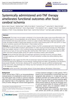 See the full article here: http://www.strokebreakthrough.com/wp-content/uploads/Clausen.TNF_.etanercept.ameliorates.stroke.cite_.20141.pdf
