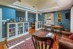 Creative Home Office Design Bookshelves Glass Doors