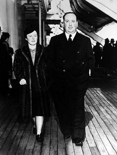 Alma Reville and Alfred Hitchcock go on a trip