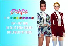 Hey guys how are you doing? I've made another recolor. Citrontart's suit is amazing but it has only one swatch so I've added some extra (because I'm super extra myself haha) Thank you for the beautiful mesh and psd! preview for patterns: You also can...