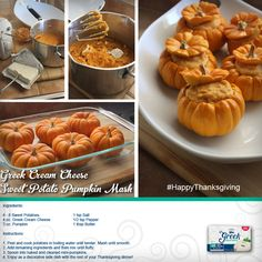 Give your guests a superfoods side dish this #Thanksgiving!   All the stuff they love, amazing flavor and more protein, with less of things they don't need, such as fat and calories. Greek Cream Cheese Sweet Potato Pumpkin Mash!